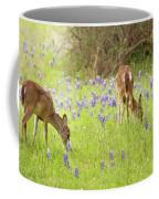 Bluebonnets And Whitetails Coffee Mug