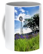 Bluebonnets With Windmill Coffee Mug