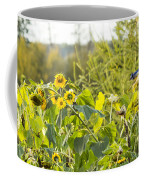 Bluejay And Sunflowers Coffee Mug