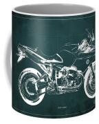 Blueprint For Men Office Decoration. R1100s Green Background Coffee Mug