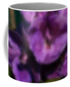 Blurred Seasonal Orchid Flowers With Dark Green Background Coffee Mug