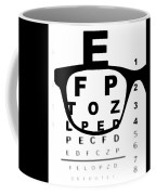 Blurry Eye Test Chart Coffee Mug