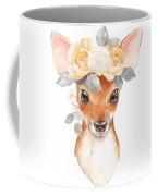 Blush Floral Deer Coffee Mug