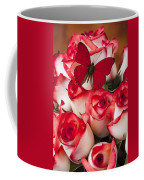 Blush Roses With Red Butterfly Coffee Mug