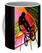 Bmx In Lines And Circles Coffee Mug