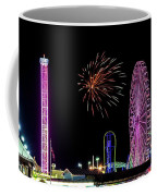 Boardwalk Fieworks At The Jersey Shore Coffee Mug