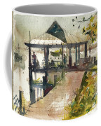 Boardwalk Sarasota Ink And Wash Coffee Mug