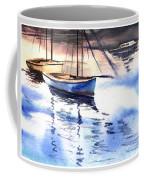 Boat And The River Coffee Mug