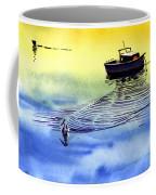 Boat And The Seagull Coffee Mug