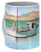 Boat At China Camp State Park Coffee Mug