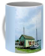 Boat By Oyster Shack Coffee Mug