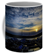 Boat Harbor At Sunset Coffee Mug
