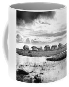 Boat Houses By The Shore In Kallahamn Harbor Coffee Mug