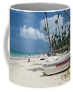 Boat On The Beach Coffee Mug