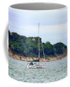 Boat On A Lake Coffee Mug