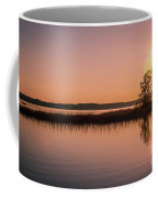 Boat On Calm Lake Coffee Mug