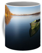Boat On Lake Coffee Mug
