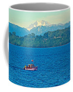 Boat On Llanquihue Lake From Puerto Varas-chile Coffee Mug