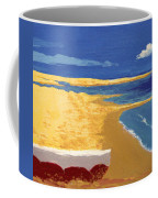 Boat On The Sand Beach Coffee Mug