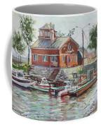 Boat Station On Krestovsky Island In St.-petersburg Coffee Mug
