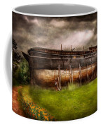 Boat - The Construction Of Noah's Ark Coffee Mug by Mike Savad