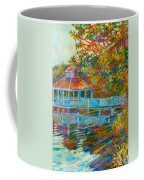 Boathouse At Mountain Lake Coffee Mug