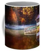 Boathouse In Autumn Oil Painting Coffee Mug