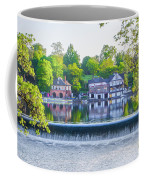 Boathouse Row - Framed In Spring Coffee Mug