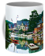 Boathouse Row In Philly Coffee Mug by Bill Cannon