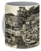 Boathouse Row In Sepia Coffee Mug by Bill Cannon
