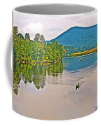 Boating On Connecticut River Between Vermont And New Hampshire Coffee Mug