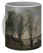 Boatman Among The Reeds Coffee Mug by Jean-Baptiste-Camille Corot