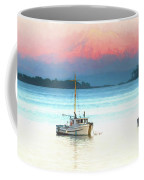 Boats Anchored With Mount Baker, Washington In Background Coffee Mug