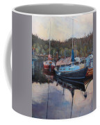 Boats At Dock Heriot Bay Inn Coffee Mug