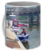Boats At North Tonawanda Canal Coffee Mug