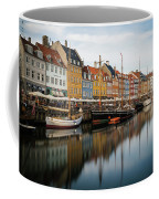 Boats At Nyhavn In Copenhagen Coffee Mug by James Udall