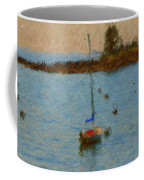 Boats At Smugglers Cove Boothbay Harbor Maine Coffee Mug