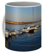 Boats At Sunset In Fuzeta Coffee Mug