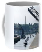 Boats In Ballard Locks Coffee Mug