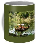 Boats In Lake Ankor Thom Coffee Mug