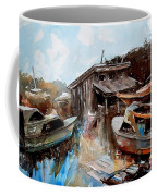 Boats In The Slough Coffee Mug