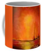 Boats In The Sunset Coffee Mug