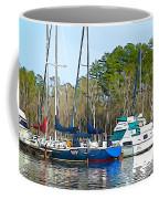 Boats In The Water Coffee Mug