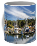 Boats In Winchester Bay Coffee Mug