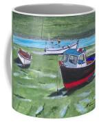 Boats Low Tide Emsworth Coffee Mug