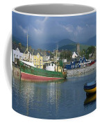 Boats Moored At A Harbor, Dingle Coffee Mug