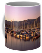 Boats Moored At A Harbor, Stearns Pier Coffee Mug