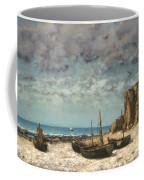 Boats On A Beach, Etretat Coffee Mug