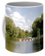 Boats On Markeaton Lake Coffee Mug