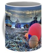 Boats On The Beach At Beer Coffee Mug